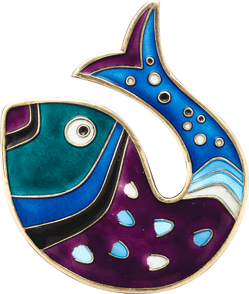 fish-brooch